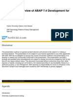 D-Code Presentation - Overview of ABAP 7.4 Development for SAP HANA
