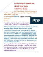 Instructions for Firmware the Device RK3066 and RK3188
