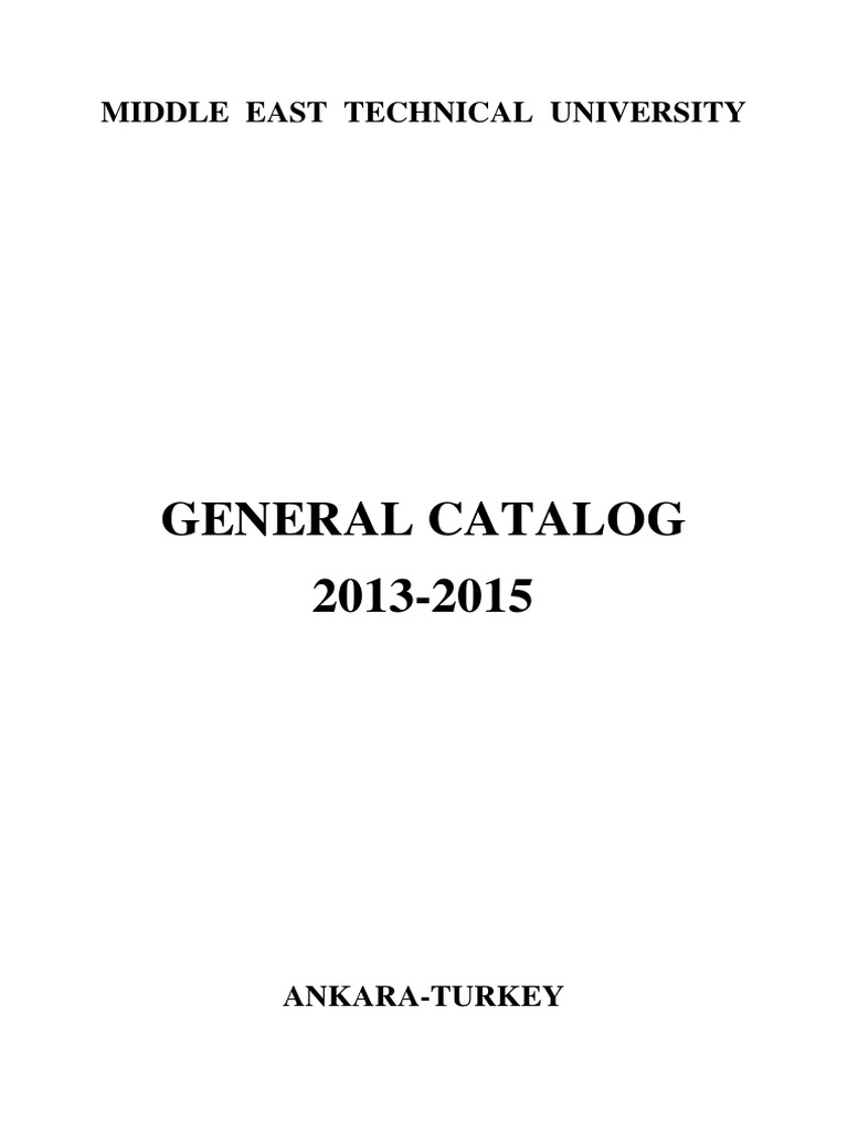 General Catalog 2013 2015 2 | Bachelor Of Science | Master Of Science