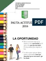 Criterios Pauta Actitudinal 2016