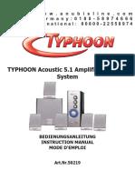 Typhoon 5 1 Lautsprechersys de en Fr[1]