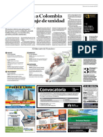 El Papa Llega a Colombia Con Un Mensaje de Unidad