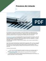 SAP MM – Processo de Cotação