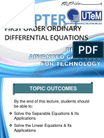 CHAPTER 4 First Order Differential Equations