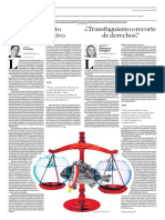 Debate, Debe Ser Declarada Inconstitucional La Denominada Ley Antitransfuguismo
