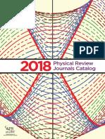 2018 APS Journals Catalog