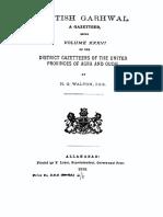 1910 British Garhwal--A Gazetteer by Walton
