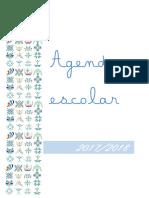 Agenda Escolar 2017 2018 Mensal
