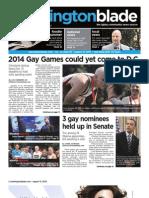 washblade.com – vol. 41, issue 33 – August 13, 2010
