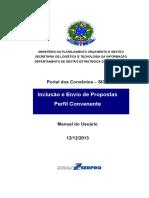 Manual Siconv Inclusao de Propostas