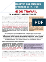 Newsletter 29 - Code du travail - En marche - Arrière toute