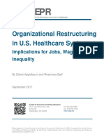 Organizational Restructuring in U.S. Healthcare Systems