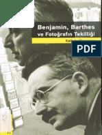Kathrin Yacavone Benjamin Barthes Ve Fotoğrafın Tekilliği - Hayalperest Yayınevi