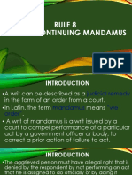 Writ of Continuing Mandamus (FIL)