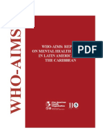 WHO AIMS REPORT on Mental Health Systems in Latin American and the Caribbean