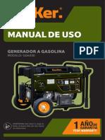 Manual generador Bauker GG6300