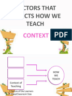 Factors That Affects How We Teach