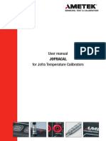 Calibration Software Jofracal User Manual Temperature Us