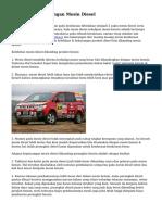 Manfaat & Kekurangan Mesin Diesel