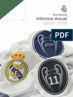 Real Madrid. Informe Anual 2015-16