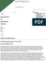 Abdominal Trauma (Assessment of) - Emergencies - Urgent Considerations - Best Practice - English