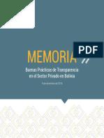 1 Memoria Alianza Público - Privada por la Transparencia- Bolivia