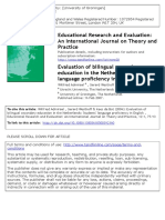 Evaluation of Bilingual Secondary in the Netherlands