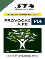 Folheto Tardes Setembro 2017