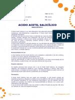 Ficha Tecnica - Acido Acetil Salicilico