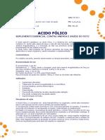 Ficha Tecnica - Acido Folico