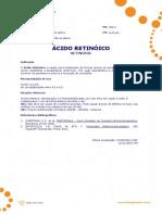 Ficha Tecnica - Acido Retinoico