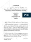 Inmigración, género y Mercado de trabajo