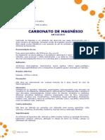 Ficha Tecnica - Carbonato de Magnesio