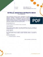 Ficha Tecnica - Centella Asiatica (Extrato Seco)