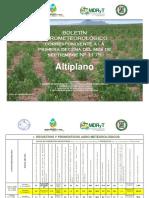 BOLETÍN AGROMETEOROLÓGICO correspondiente a la Primera Decena del mes de Septiembre Nº 1175-Altiplano