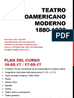 1. Siglo XX - Teatro Latinoamericano Moderno 1880 - 1930