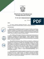 Resolución N°341-2017-SINEACE-CDAH-P