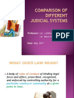 01-01 Comparison Btw Different Judicial Systems