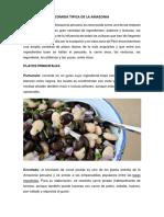 Comida Tipica de La Amazonia