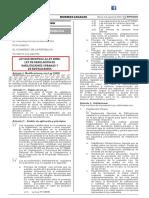 LEY N° 30494. Ley que modifica la Ley 29090, Ley de Regulación de Habilitaciones Urbanas y de Edificaciones (02082016)
