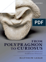 Matthew Leigh-From Polypragmon to Curiosus _ Ancient Concepts of Curious and Meddlesome Behavior-Oxford University Press (2013)