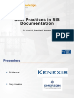 Best Practices in Sis Documentation