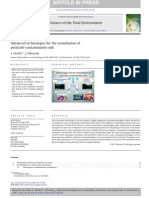 Advanced Technologies for the Remediation of Pesticide-contamintaed Soils