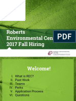 Roberts Environmental Center 2017 Fall Hiring