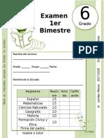 6to Grado - Examen Bloque 1 (2017-2018)