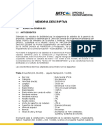 Memoria Descriptiva Carr Huachon-Laguna Talenga Km 0-Km13