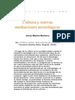 Jesús Martin Barbero - Cultura y Nuevas Mediaciones tecnológicas
