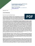 CCASAPE Letter to CCSD Board Re Supt Concerns.09!05!17