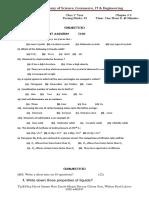 Chemistry 1st Year Test (4)