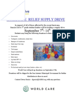 Hurricane Relief Supply Drive